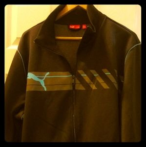 Men vintage puma track sweater